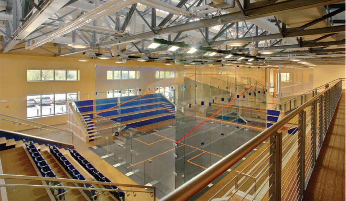Squash glass court